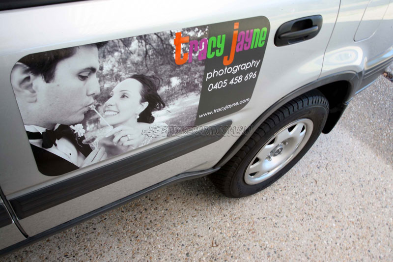 Magnetic car sign for tracy jayne photography