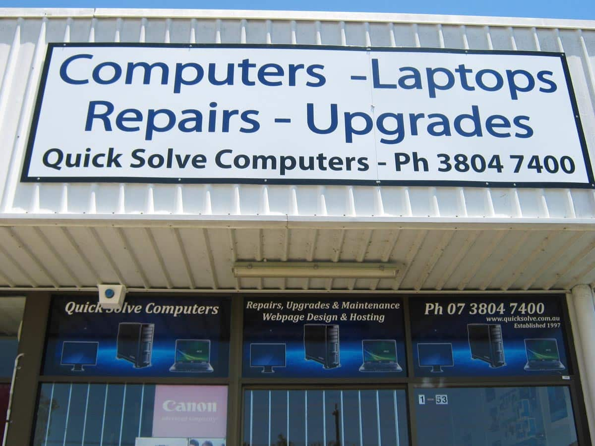 Quick Solve Computers - After Signage Installed