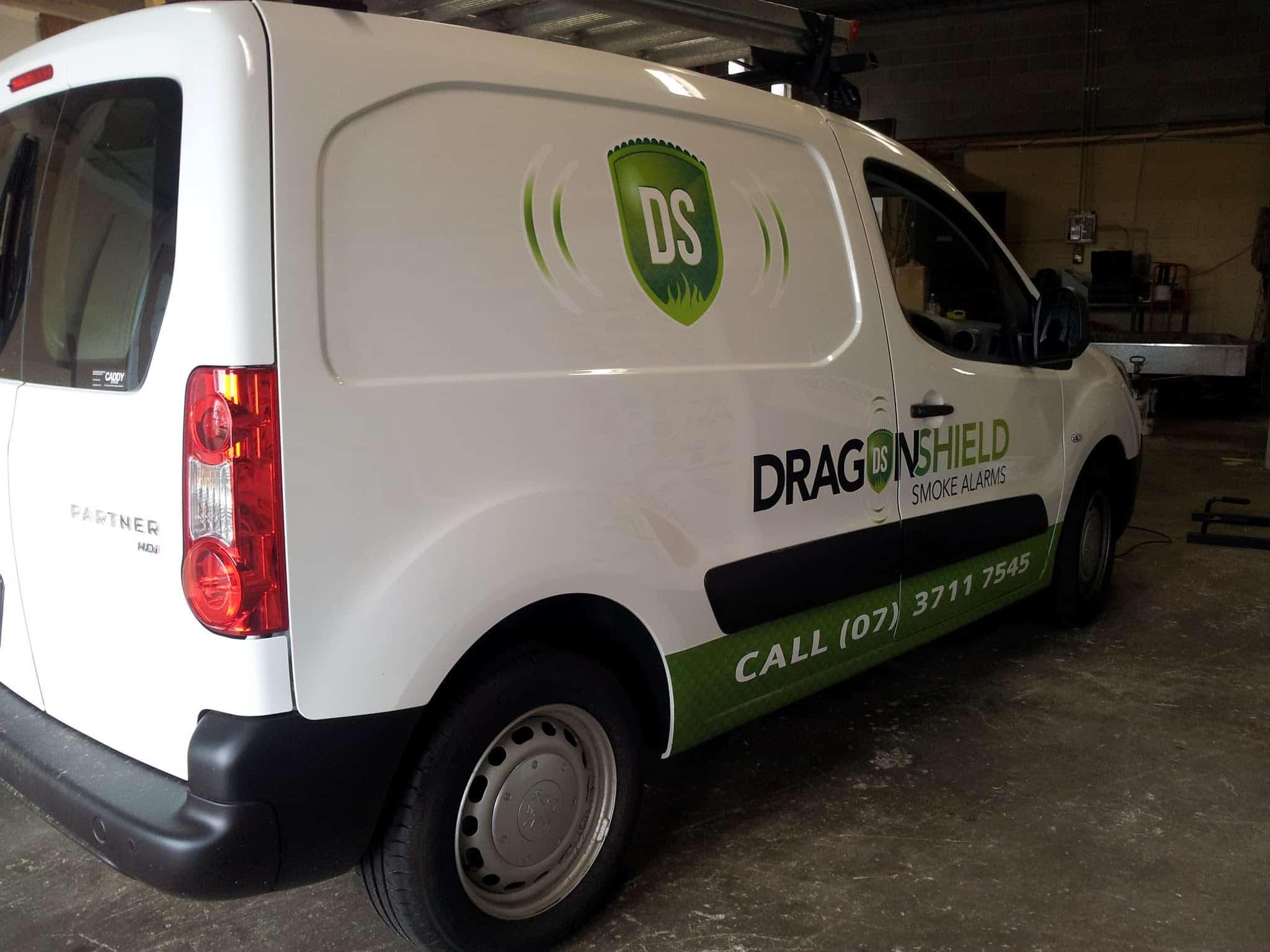 Dragon Shield Smoke Alarms Vehicle Signage