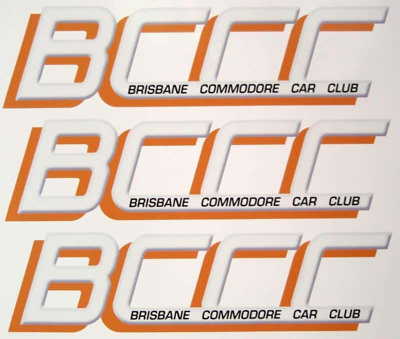 Brisbane commodore car club custom digitally printed stickers