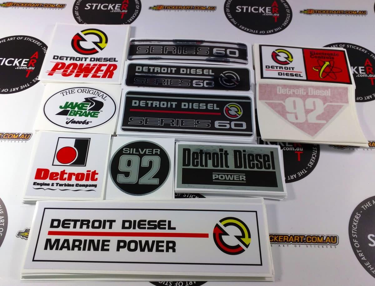 2016 05 the art of stickers australia custom truck stickers detroit diesel