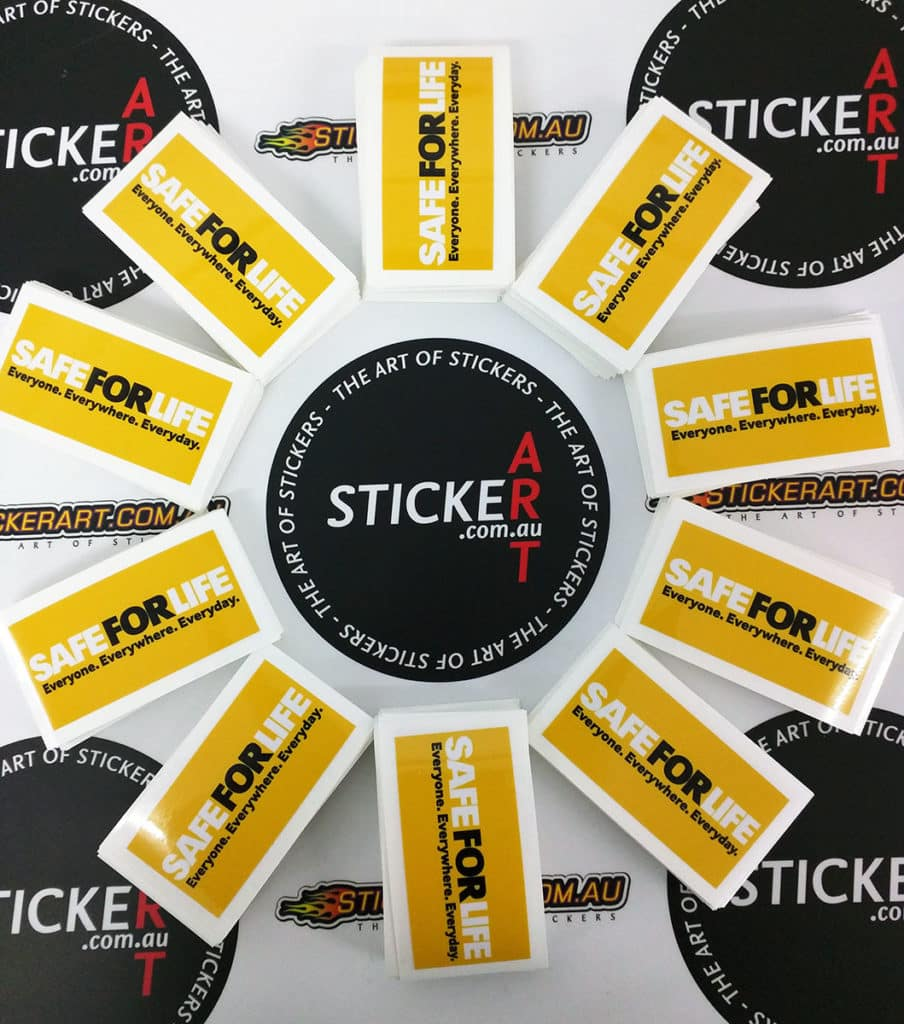 SafeForLife printed stickers for PowerLink