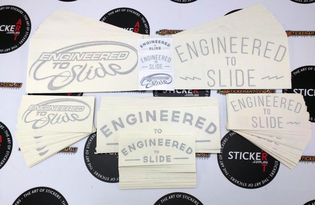 Vinyl Cut Stickers for Engineered To Slide