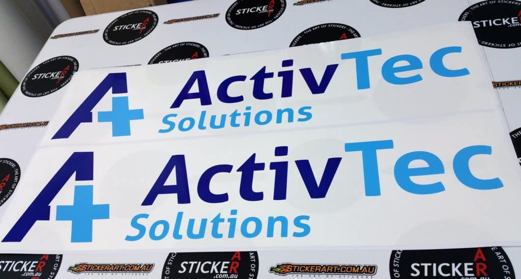 Printed Stickers for ActivTec Solutions - Tingalpa, Queensland