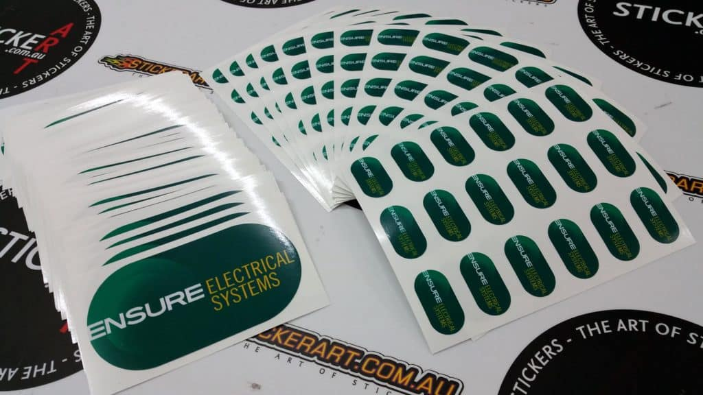 Ensure Electrical Systems Printed Stickers - Tingalpa, Queensland