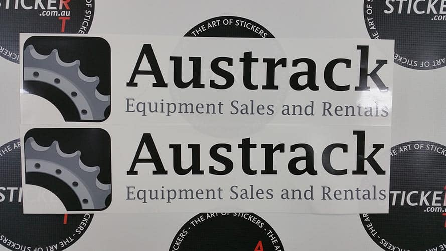 Custom stickers for austrack equipment and sales custom stickers