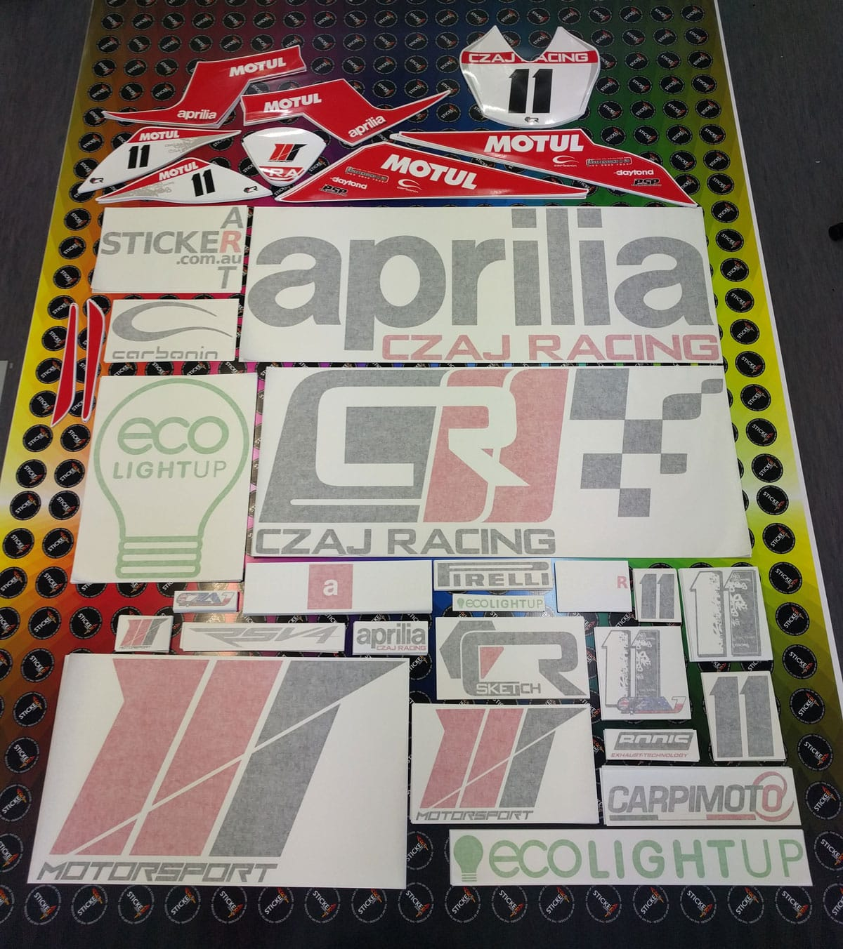 Stickers and Decals for CZAJ Racing