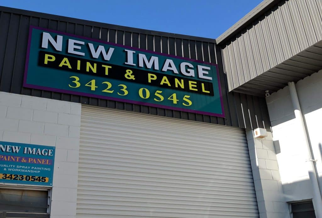 Signage for New Image Paint & Panel