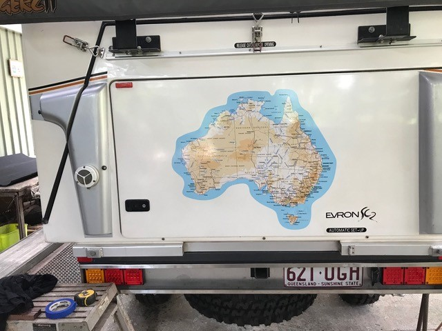 Durable Outdoor Map Sticker of Australia