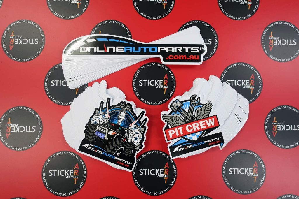 Printed custom stickers for onlineautoparts.com.au
