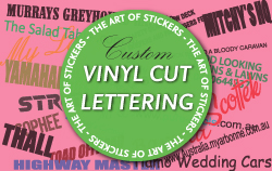Custom Vinyl Cut Lettering from The Art of Stickers