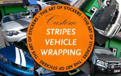 Car Striping and Vehicle Wrapping from The Art of Stickers