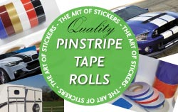 Pinstripe Tape and Rolls from The Art of Stickers