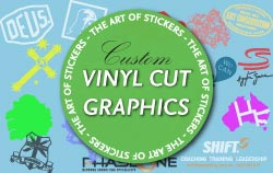 Custom Vinyl Cut Graphics from The Art of Stickers