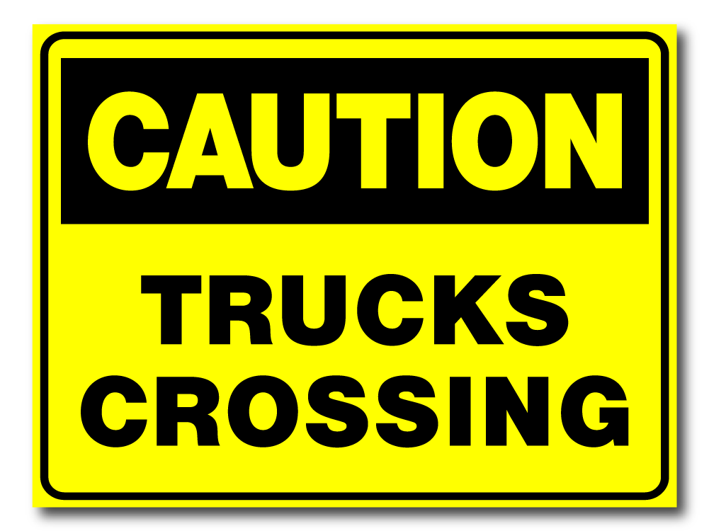 Caution - Trucks Crossing