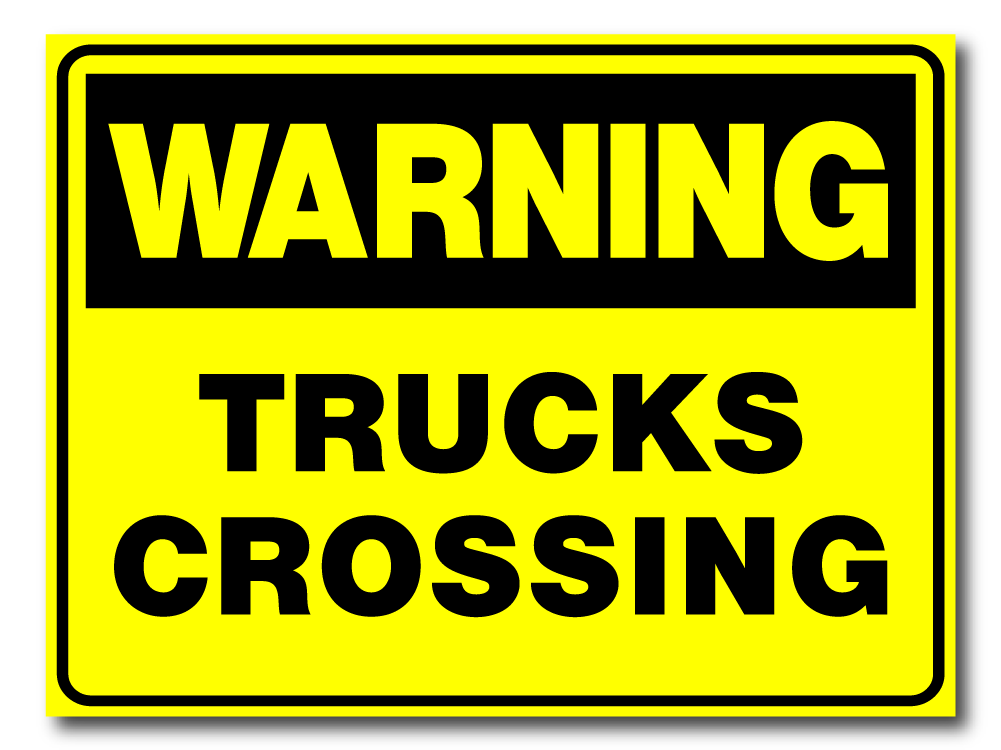 Warning - Trucks Crossing