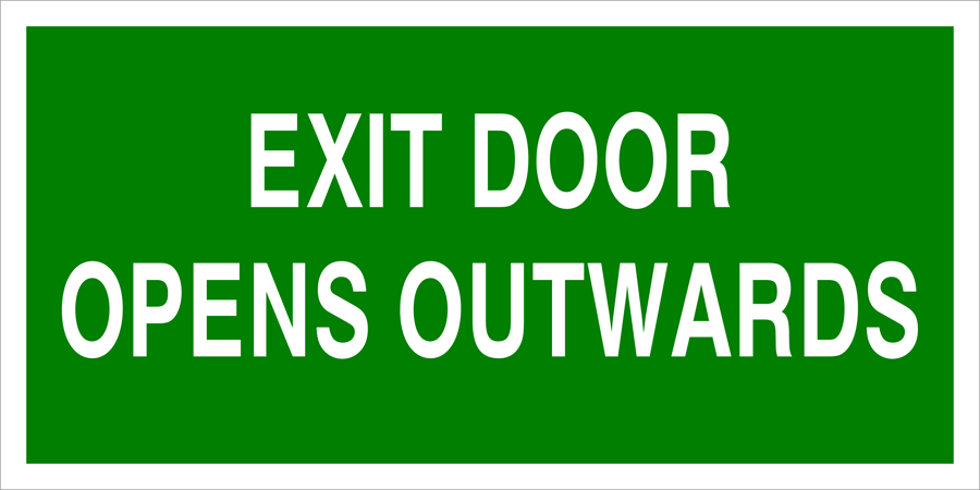 Exit Door Opens Inwards