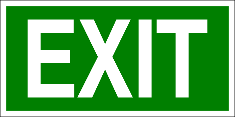 Exit with Arrow