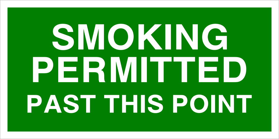 Smoking Permitted Past This Point