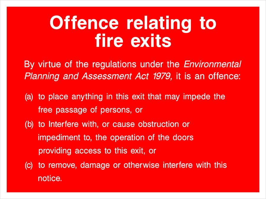 Offence Relating To Fire Exits