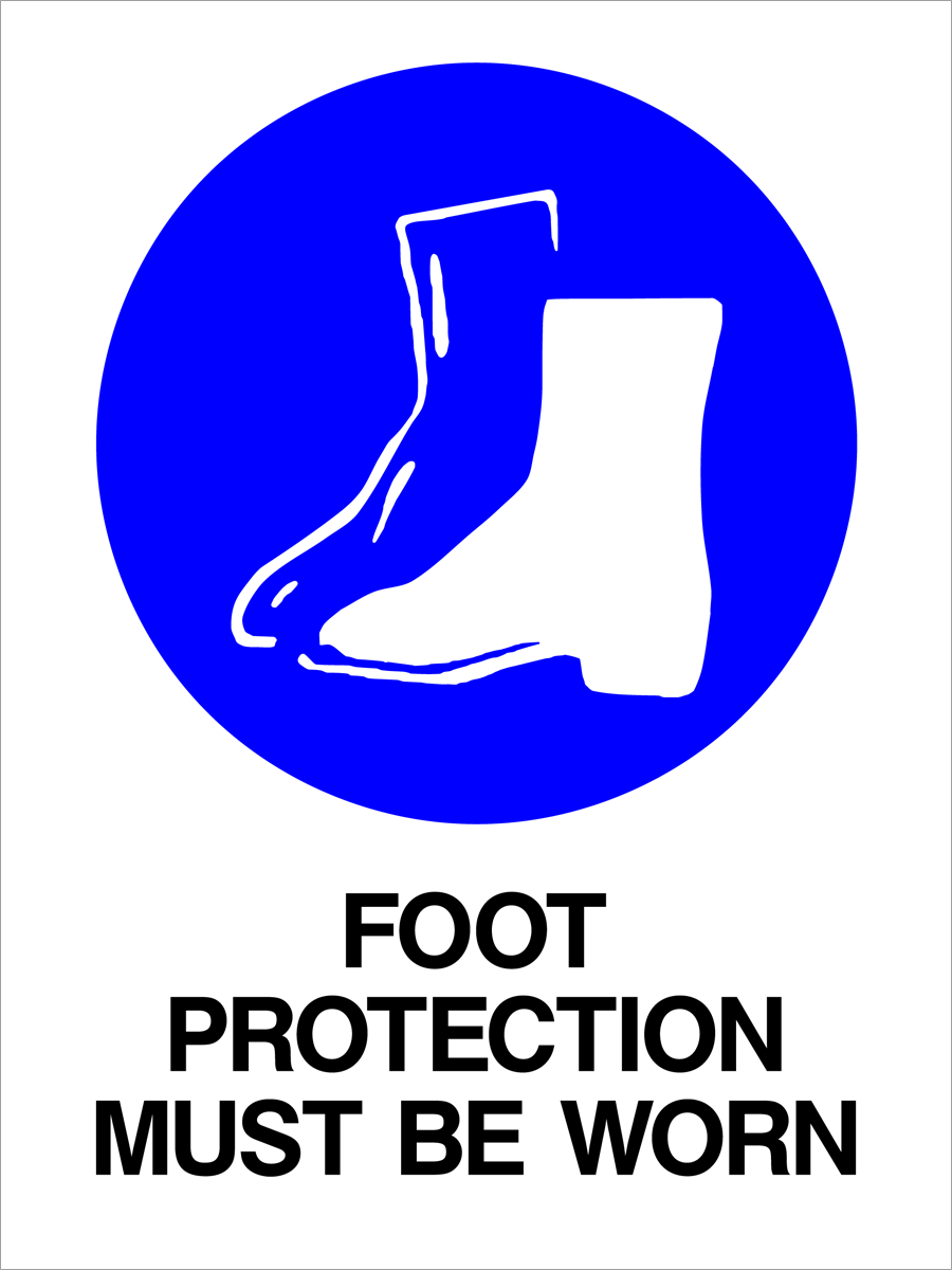 Mandatory - Foot Protection Must Be Worn