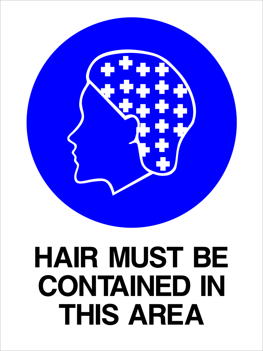 Mandatory - Hair Must Be Contained In This Area