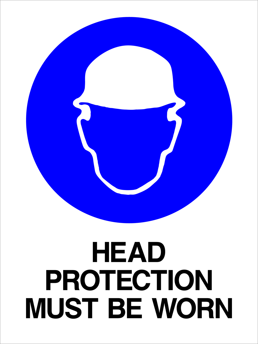 Mandatory - Head Protection Must Be Worn