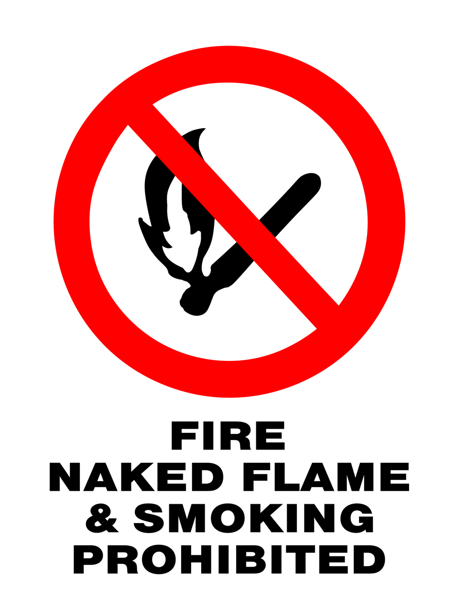 Prohibition - Fire Naked Flame & Smoking Prohibited