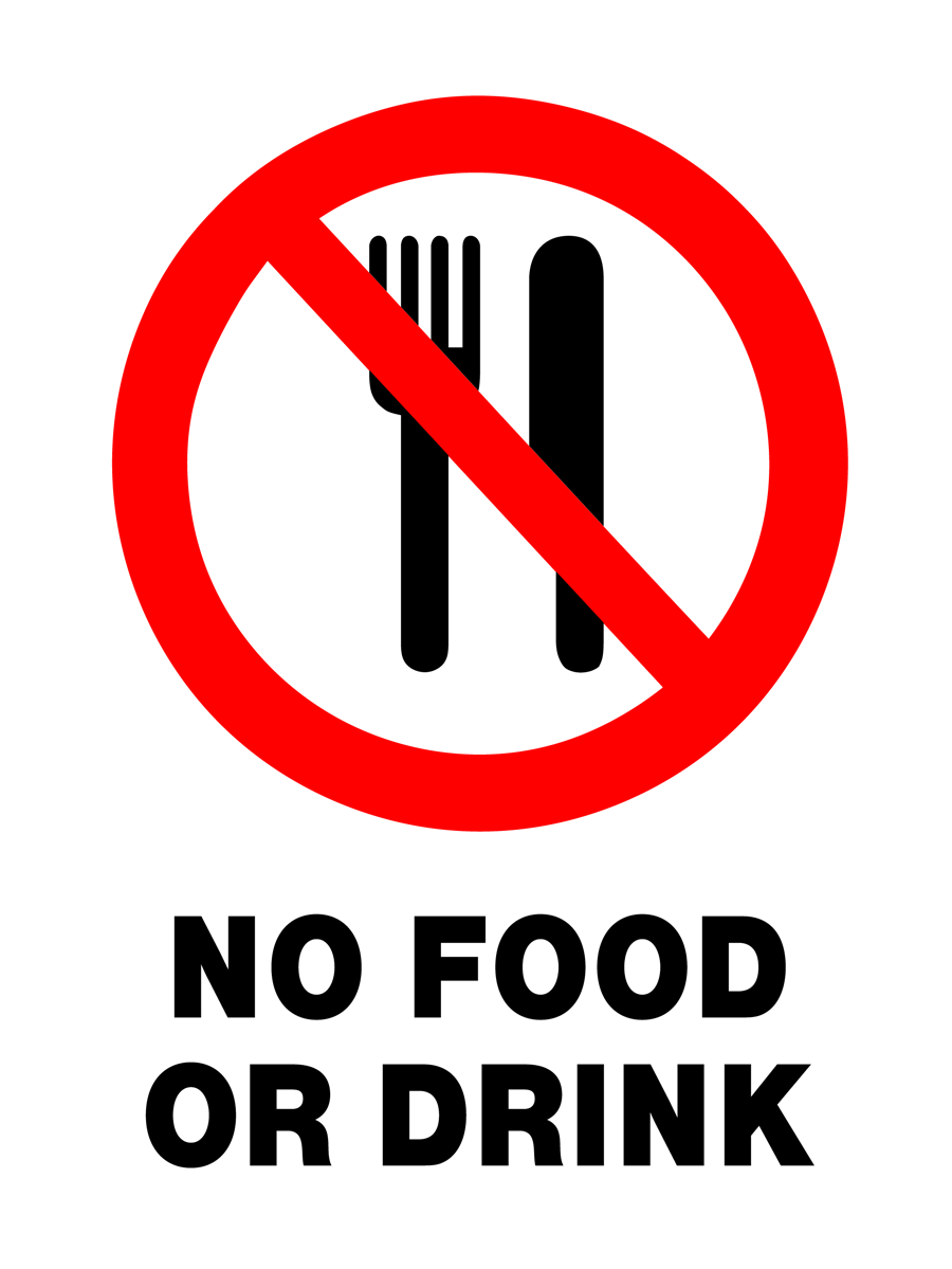 Prohibition - No Food Or Drink