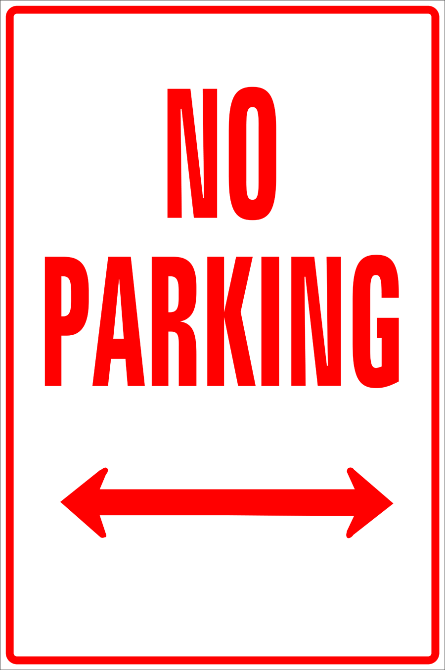 Traffic Signs - No Parking Left and Right