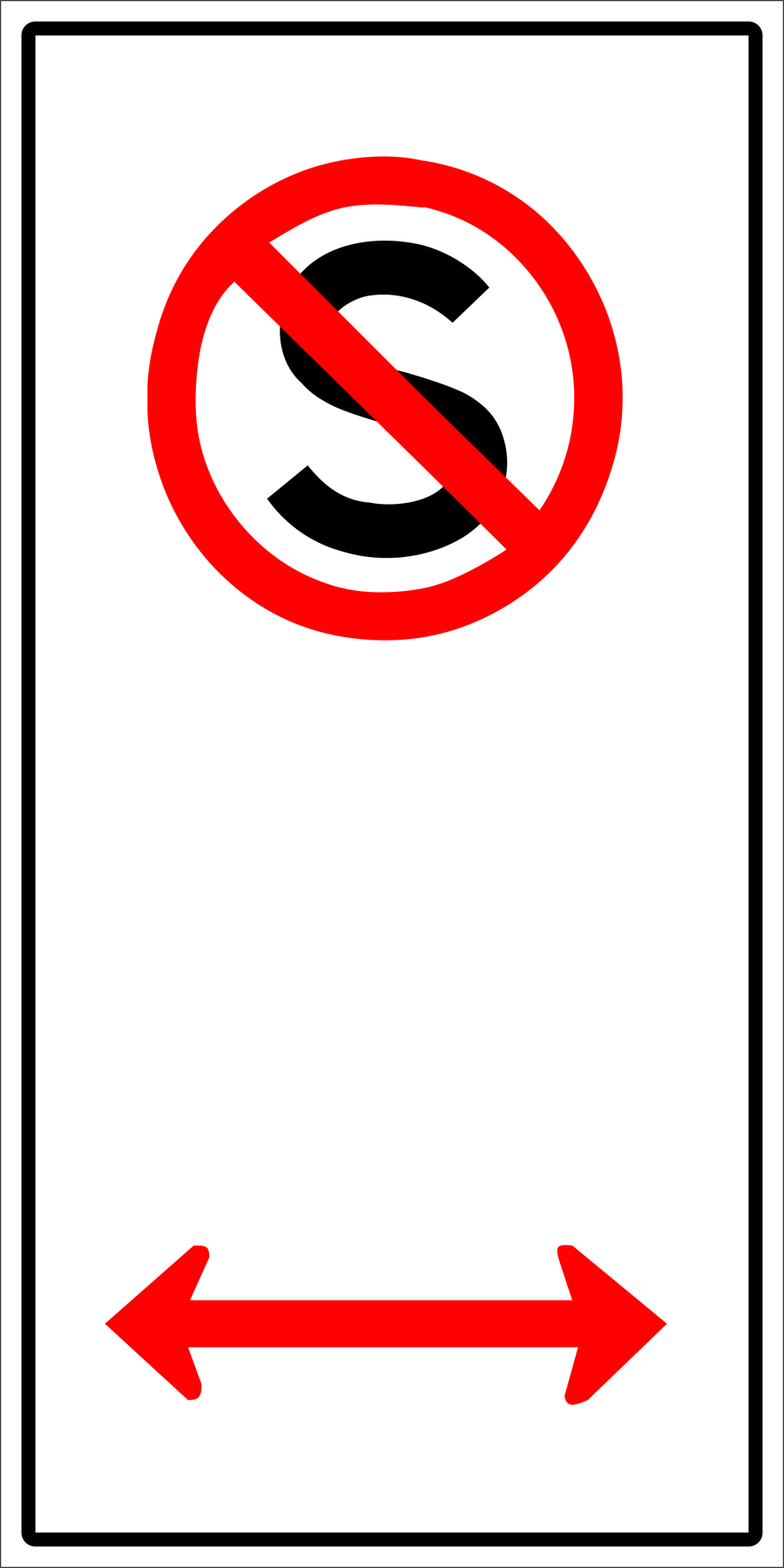 Traffic Signs - No Standing Left and Right