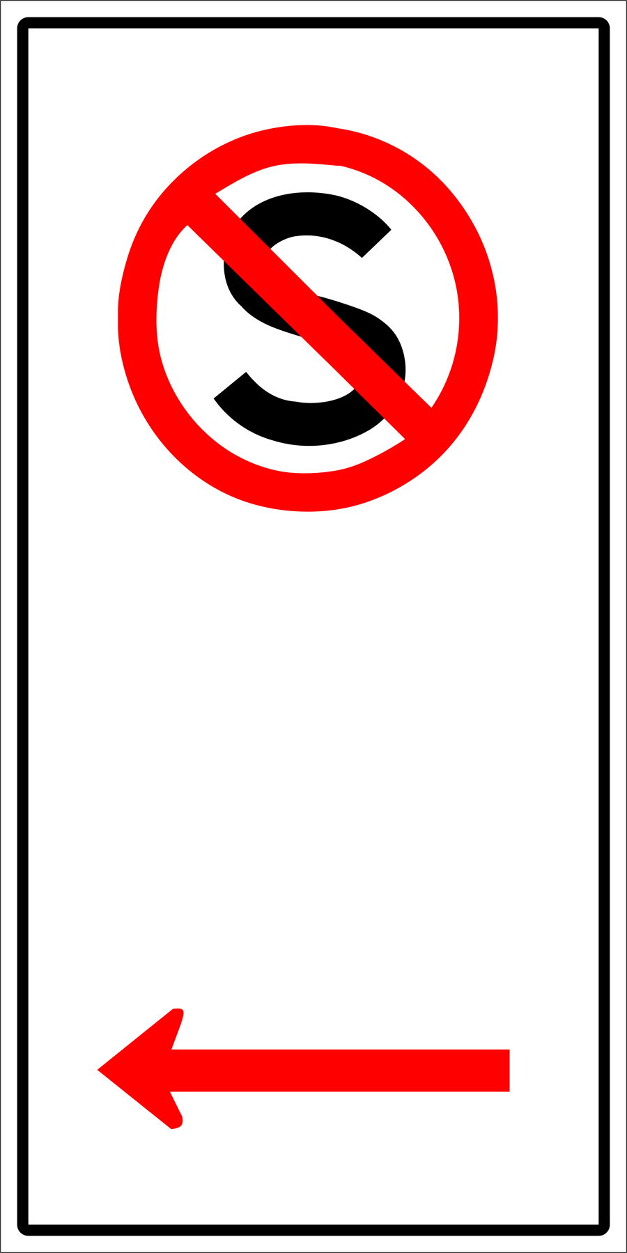 Traffic Signs - No Standing To Left