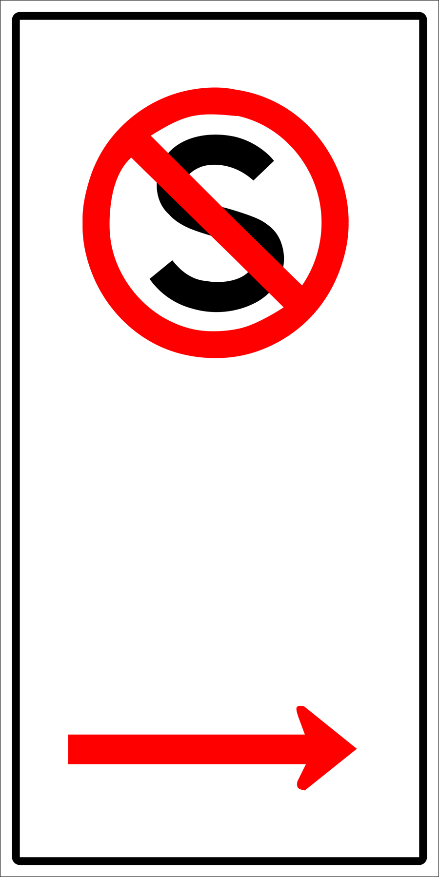 Traffic Signs - No Standing To Right