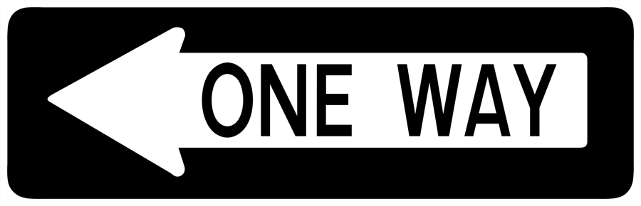 Traffic Signs - One Way to Left