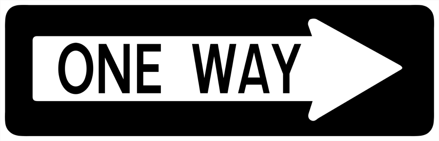 Traffic Signs - One Way to Right