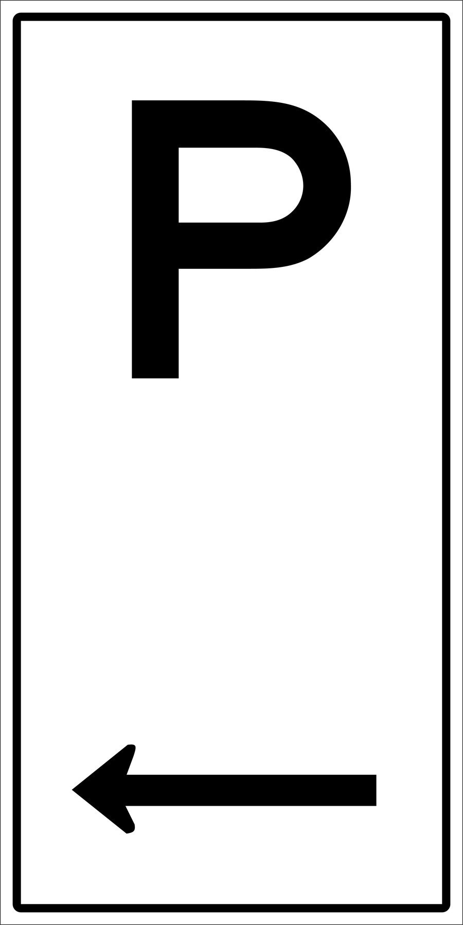 Traffic Signs - Parking To Left