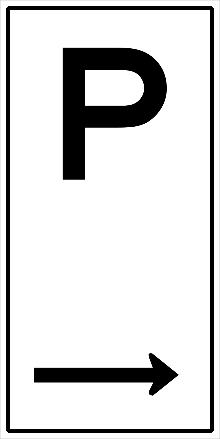 Traffic Signs - Parking To Right