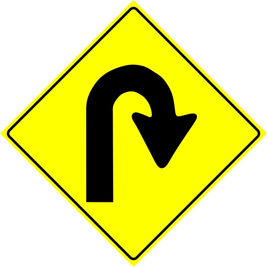 Traffic Signs - Sharp Bend Ahead