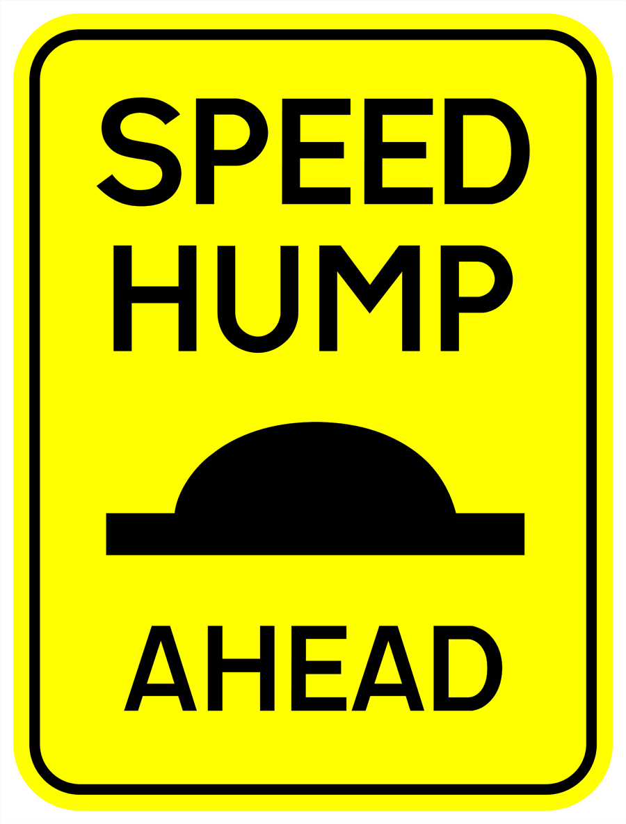 Traffic Signs - Speed Hump Ahead