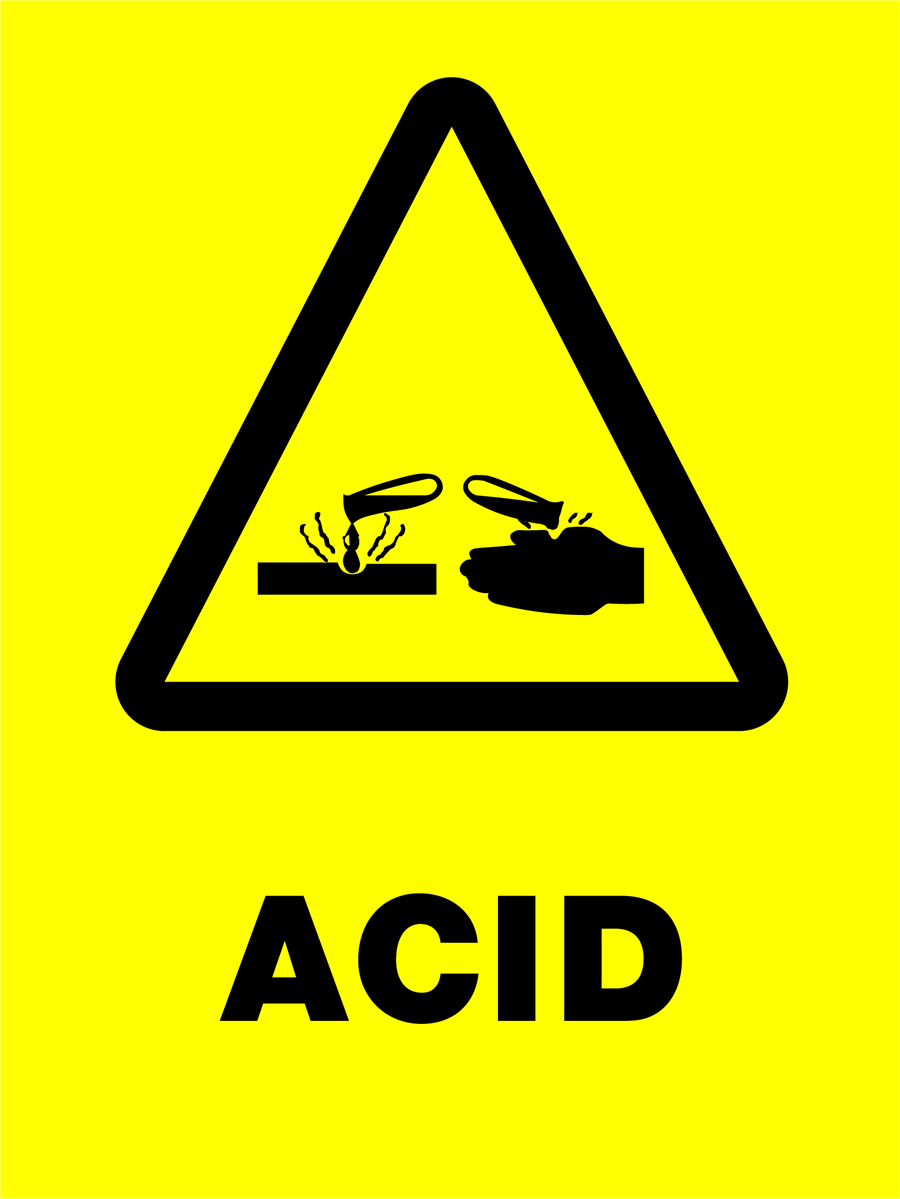 Warning - Acid