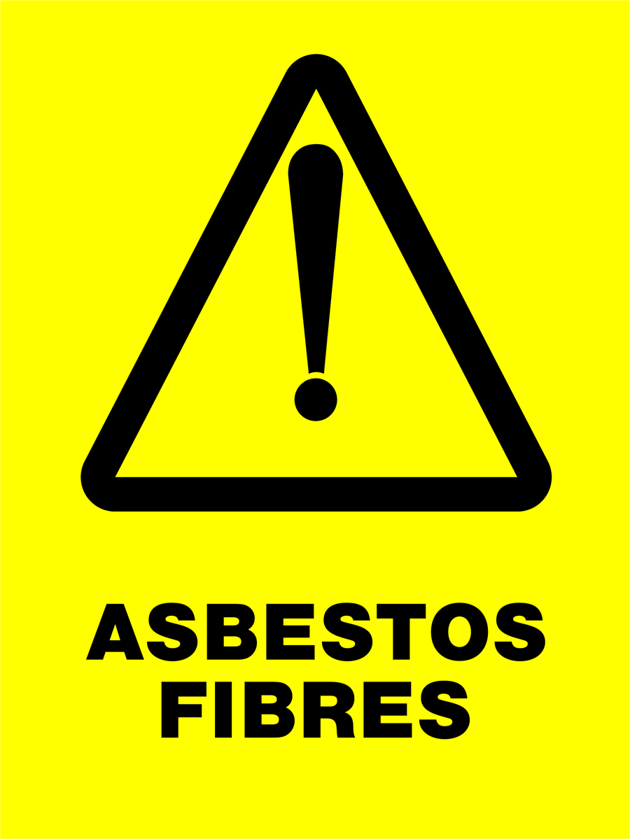 Warning - Asbestos Fibres