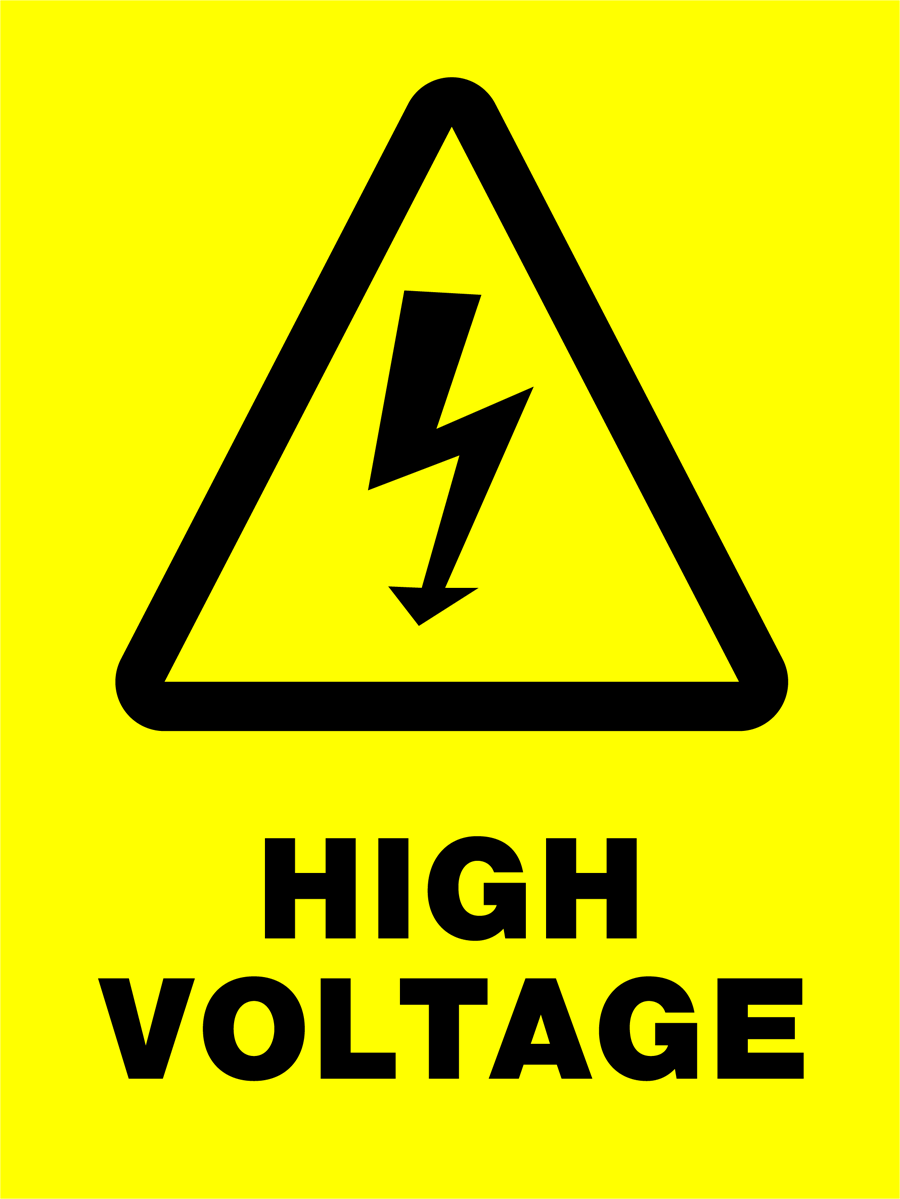 Warning - High Voltage