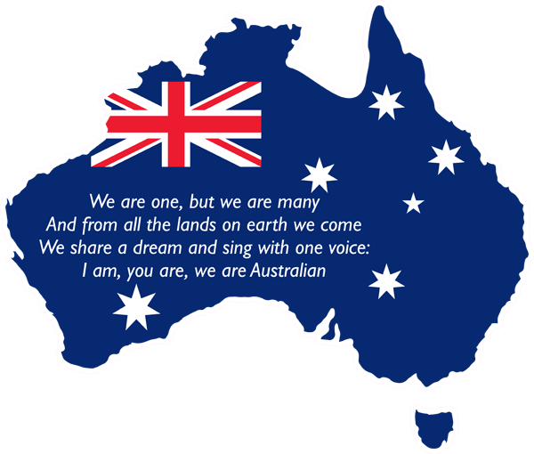 Australia Shape Aussie Flag - We Are Australian