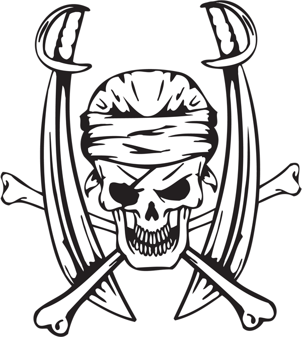 Pirate Sticker #12