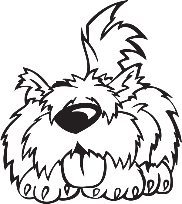 Crazy Dog Character #4