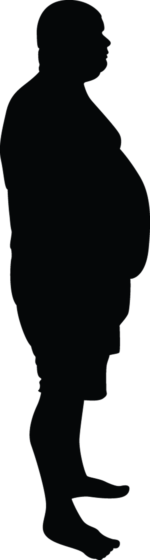 Fat Man Standing Silhouette