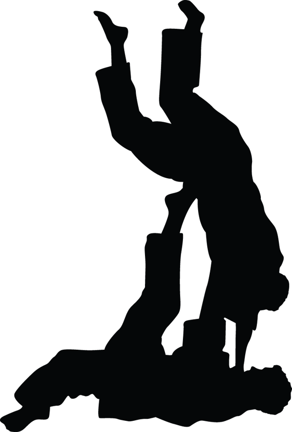 Karate Kid Combat Fight Silhouette