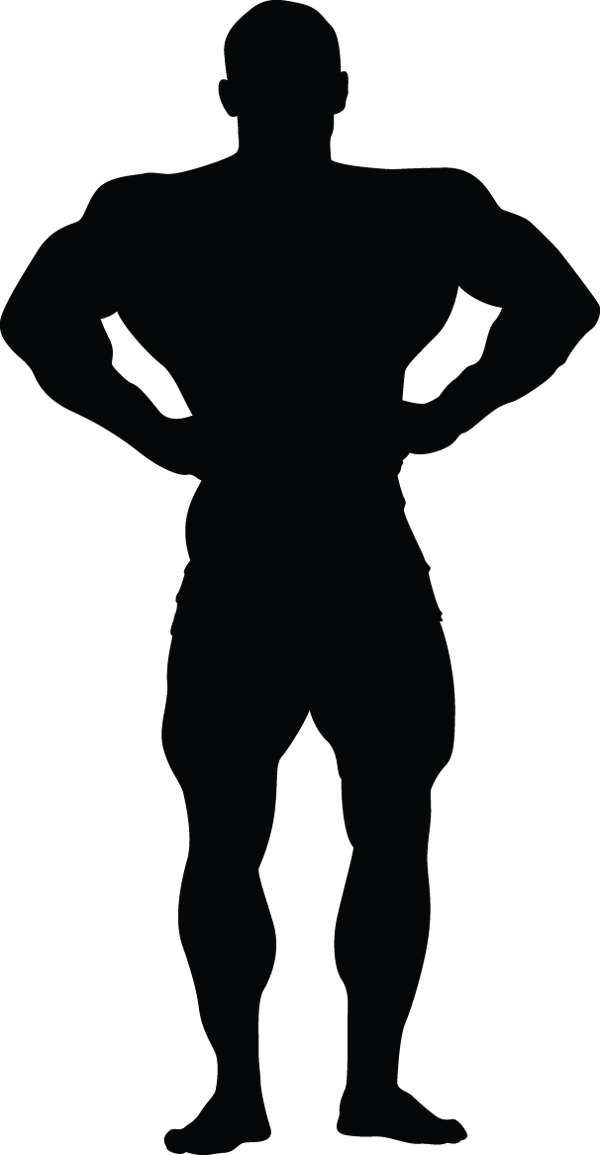 Man Muscle Pose Hands On Hips Silhouette