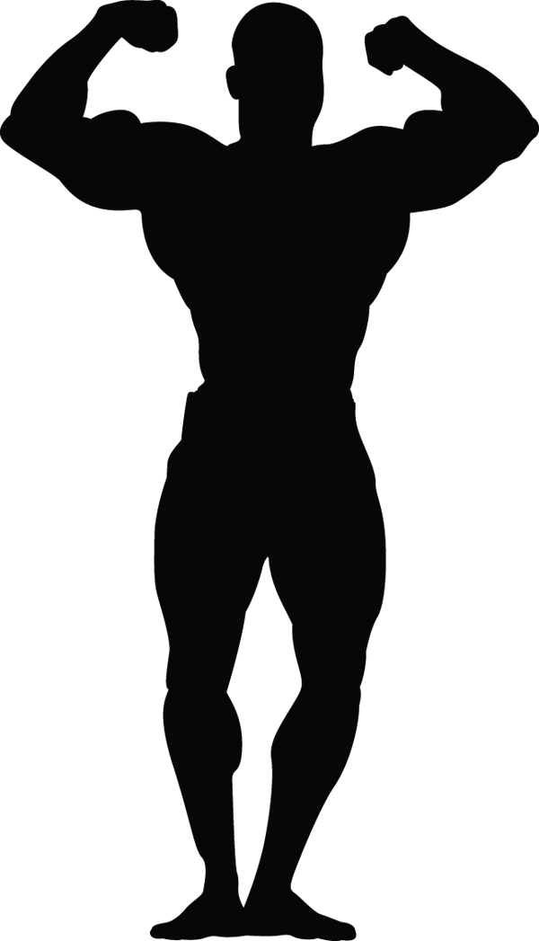 Man Muscle Pose Handsup Silhouette
