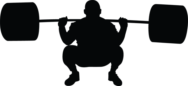 Weightlifter Down Silhouette